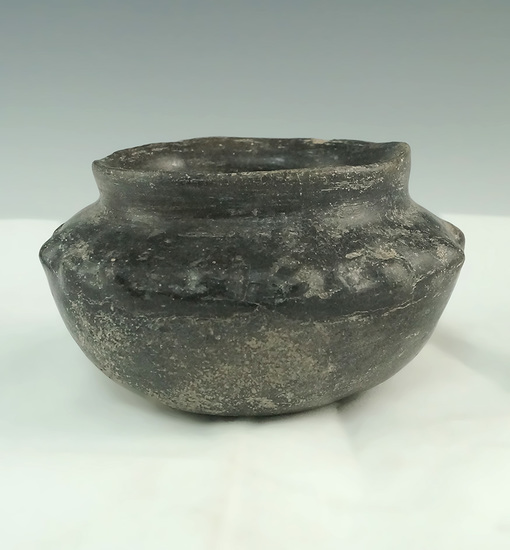 """4 1/2"""" Nicely decorated Pre-Columbian pottery vessel from Mexico."""