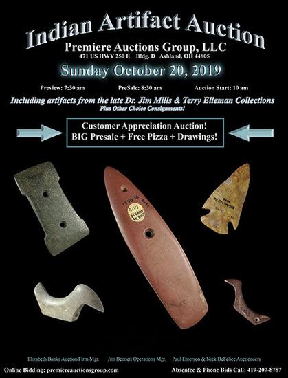 Indian Artifacts Auction - Bennett's Premiere Auct