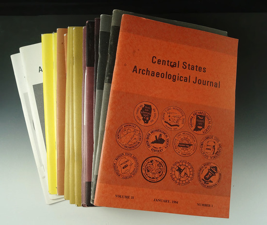 Set of 20 Central States Archaeological Journals, 1984-1997.