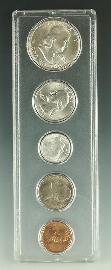 1951 Year Set in Holder Cent – Half Dollar BU