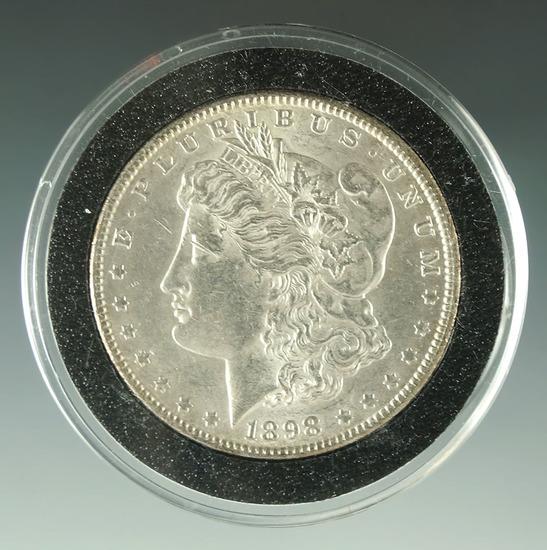 Nice 1898 Morgan Silver Dollar AU