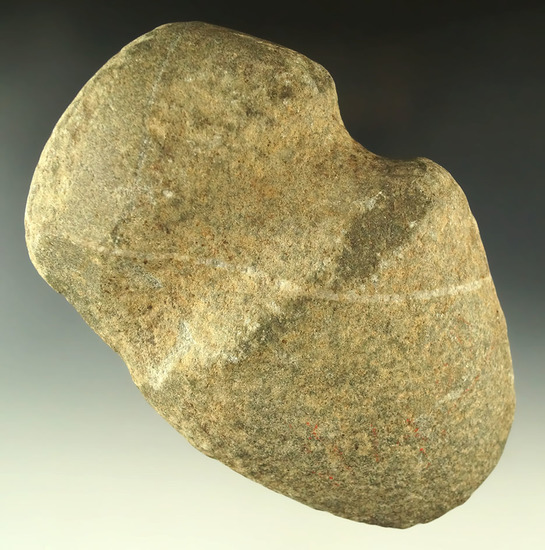 """5 5/8"""" long 3/4 grooved Hardstone Axe found in Meigs County Ohio. Ex. Dr. Jim Mills."""