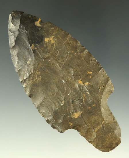 "3 1/2"" well styled Coshocton Flint Adena found in Williams County Ohio. Ex. Dr. Jim Mills."