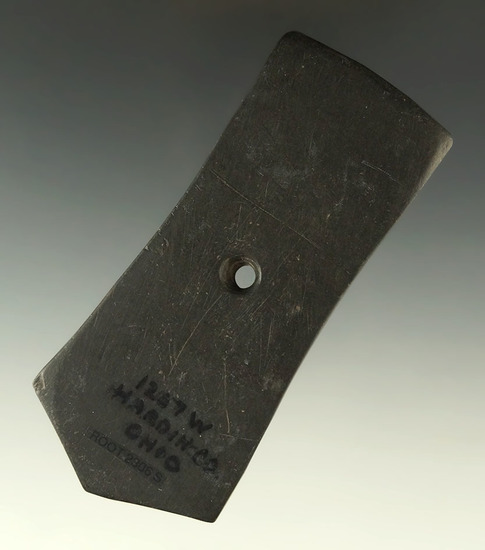 "Ex. Wherle - pictured! 4 1/16"" Hopewell Pentagonal Pendant found in Hardin Co., Ohio."