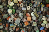 Large group of unique old glass beads from the Middle East.