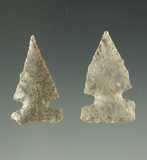 Ex. Museum! Pair of Reed sidenotch points found in Oklahoma, largest is 7/8