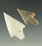 Ex. Museum! Pair of very nice Yerba Buena points found in the southwestern U. S.