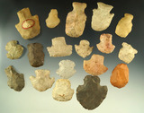 Set of 18 assorted hafted scraper found in the Midwestern U.S. Largest is 2 1/16