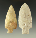 Ex. Museum! Pair of Tablerock points found in Missouri, largest is 2 15/16