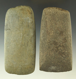 Pair of stone Celts in good condition. Found in Michigan, from the collection of Phil Wagle.