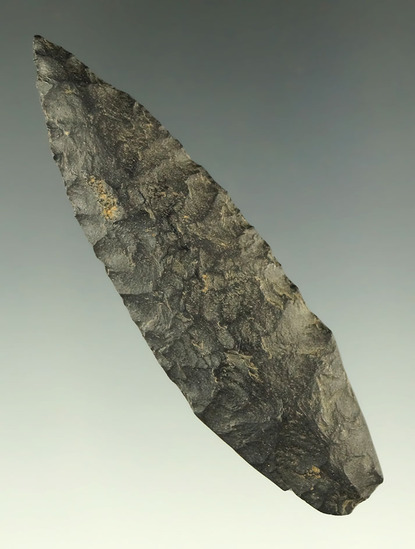 """Nicely styled 2 7/8"""" Lanceolate with heavily ground lower edges found in Oklahoma."""