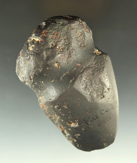 "3 3/4"" fully grooved Hematite Axe found in Pike Co., Illinois."
