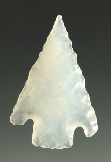 "1 1/4"" Shumla made from beautifully translucent chalcedony or agate found in Southwest Texas."