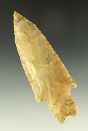 "3 1/8"" Gower point found near Williamson County Texas near the San Gabriel River. Ex.  Arnold."