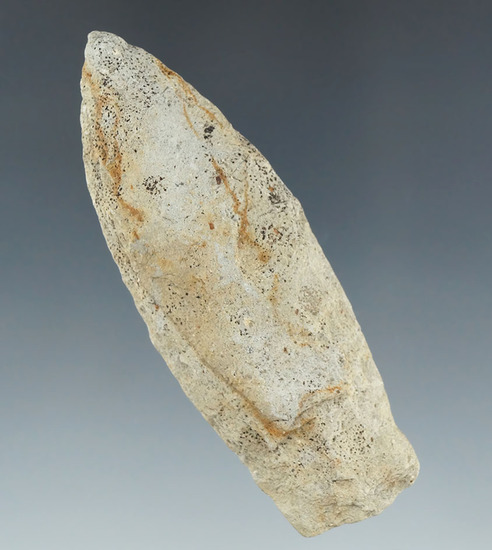 """3"""" Paleo Lanceolate with nice a ground lower edges found in Michigan."""