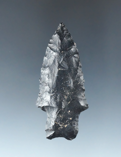 """2 1/2"""" Stemmed Bifurcate made from Coshocton Flint found in Union County Ohio."""