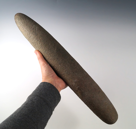 """Very big! 17 1/4"""" long Roller Pestle found in Ohio that is well patinated. This is a very large arti"""