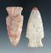 Pair of Flint Ridge Flint Hopewells found in Ohio, largest is 2 11/16