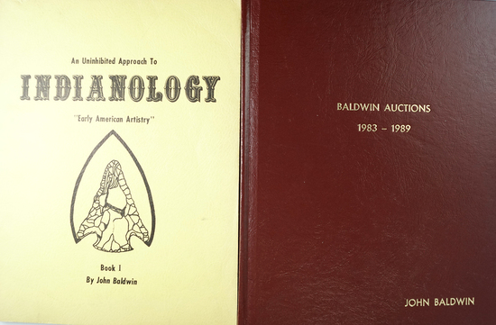 "Pair of books by John Baldwin including ""An Uninhibited Approach to Indianology Book 1"""