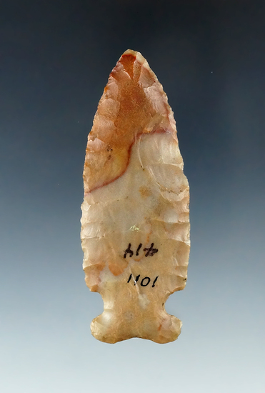 "3 1/4"" Archaic Sidenotch made from beautiful Carter Cave Flint. Found in Licking Co., Ohio."