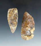 Pair of attractive Flint Blades, largest is 2 11/16