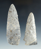 Pair of Flint Artifacts including a 4