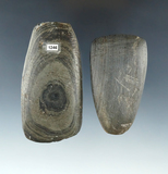 Pair of Ohio Slate Celts found in Preble and Miami Counties, largest is 3 1/4