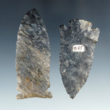 Pair of Coshocton Flint Arrowheads including a 3 1/16