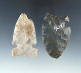 Pair of Sidenotch Arrowheads found in Montgomery Co., Ohio, both around 2 1/2