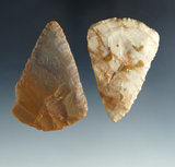 Pair of Hopewell Blades found in Ohio. Largest is 2 11/16