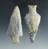 Pair of Ashtabulas found in Coshocton Co., Ohio. Largest is 3 3/8