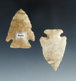 Pair of Cornernotch Points, largest was found in Preble Co., Ohio and is 1 15/16