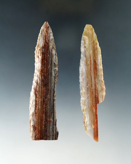 Pair of Knives made from beautiful banded petrified wood found near the Columbia River.