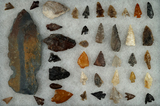 Group of assorted flaked artifacts found near the Columbia River.