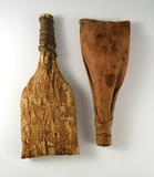 Very unique pair of Iroquois elm bark rattles in very good condition
