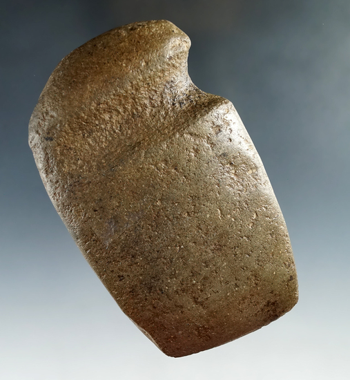 """4 5/16"""" well styled 3/4 grooved Axe found in Missouri."""
