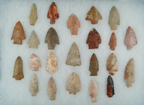 Large group of 23 assorted artifacts from many locations including Florida and Mississippi.