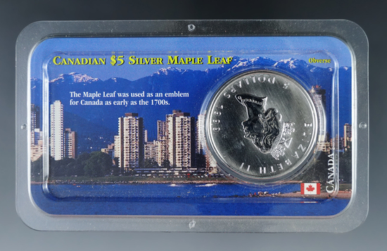 1999 Uncirculated Canadian Silver Maple Leaf