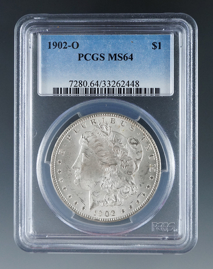 1902-O Morgan Silver Dollar Certified MS 64 by PCGS