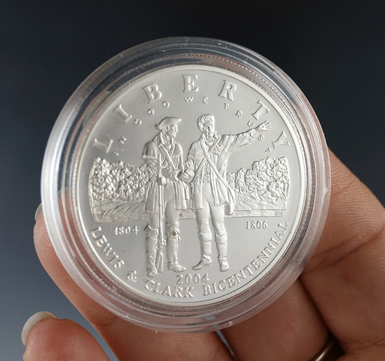 2004-P Proof Lewis and Clark Commemorative Silver Dollar in Capsule
