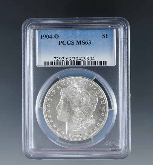 1904-O Morgan Silver Dollar Certified MS 63 by PCGS