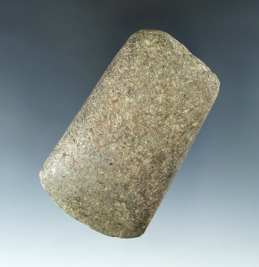 "3 1/8"" Hardstone Celt with a nicely polished bit, found in Ottawa Co., Kansas."
