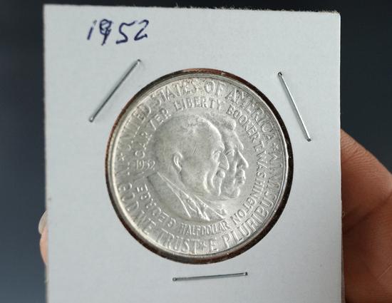 1952 Washington Carver Commemorative Silver Half Dollar AU