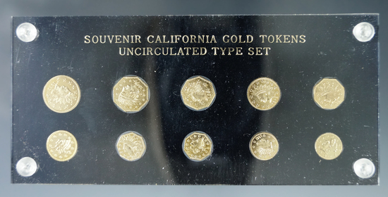 Souvenir California Gold Tokens Uncirculated Type Set