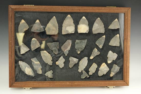 Cache of 27 broken Sonora and Hornstone Turkeytail, Breckinridge County Kentucky.