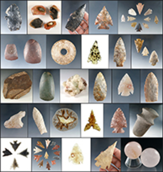 Museum Relics + Indian Artifacts & Minerals