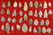 Set of approximately 38 field found arrowheads from Ashland and Huron Co. Ohio. Largest is 2