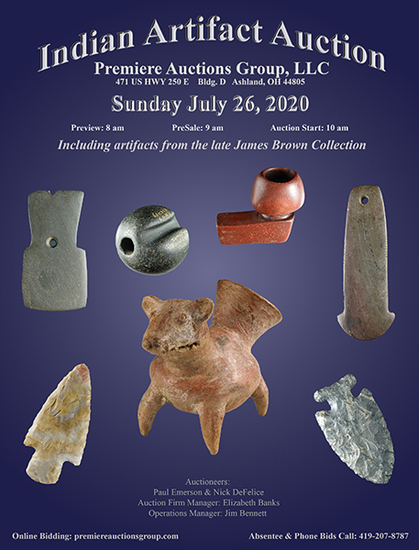 Indian Artifacts Auction - Bennett's Premiere Auct