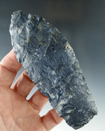 "4 11/16"" Coshocton Flint Paleo Knife  found in Ashland Co. Ohio."
