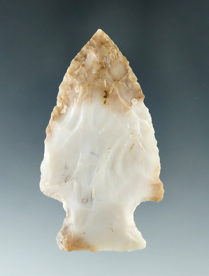 "2 13/16"" Hopewell made from beautiful multicolored Flint Ridge Flint. Found in Ashland Co. Ohio."